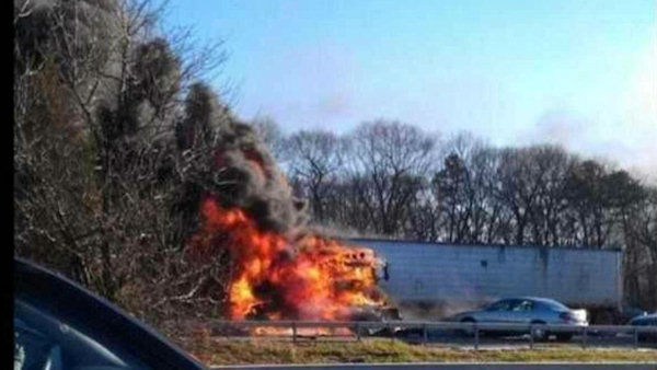 "<div class=""meta ""><span class=""caption-text "">Multiple vehicle accident on LIE in Suffolk County. (Nancy Black via Twitter)</span></div>"