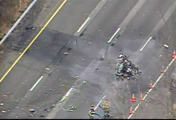 "<div class=""meta ""><span class=""caption-text "">NewsCopter 7 over the scene of the crash of a small aircraft along I-287 in Morris County, New Jersey on December 20, 2011</span></div>"