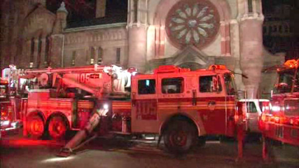 "<div class=""meta ""><span class=""caption-text "">A 19th-century Brooklyn church that was a hub for Superstorm Sandy volunteer efforts has been damaged in a fire investigators call suspicious. </span></div>"