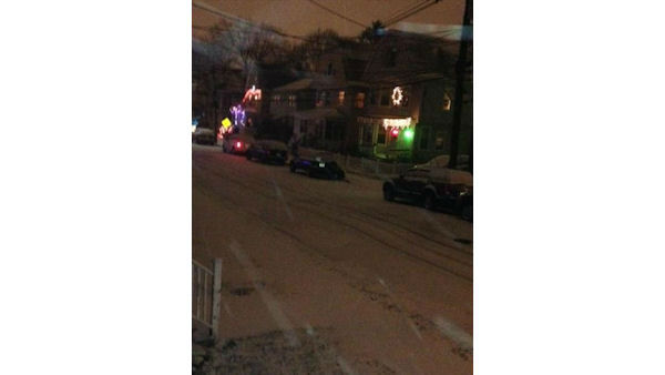 The flakes are falling in West Orange, New Jersey. <span class=meta>(WABC Photo)</span>