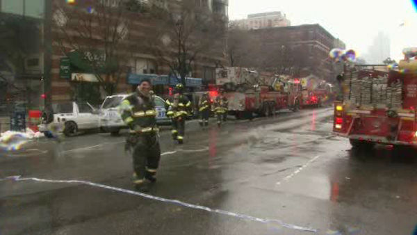 One person is dead, and another critically injured Sunday in a three-alarm fire at a high-rise building on the West Side of Manhattan.