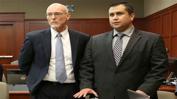 "<div class=""meta ""><span class=""caption-text "">Standing next to his defense attorney Don West, left, George Zimmerman addresses Judge Debra Nelson during his trial in Seminole circuit court in Sanford, Fla. Wednesday, July 10, 2013. Zimmerman has been charged with second-degree murder for the 2012 shooting death of Trayvon Martin. (AP Photo/Orlando Sentinel, Gary W. Green, Pool)  (AP Photo / Gary W. Green)</span></div>"