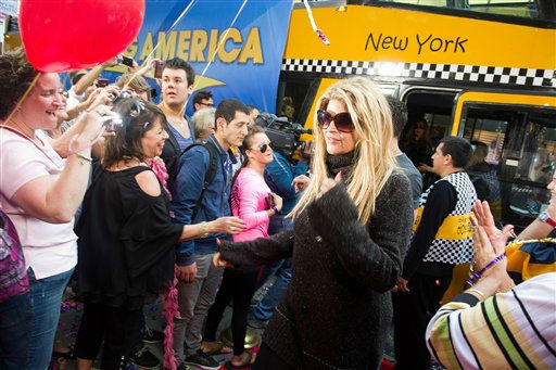 Dancing with the Stars finalist Kirstie Alley arrives for an appearance on Good Morning America in New York, Wednesday, May 25, 2011. (AP Photo/Charles Sykes)