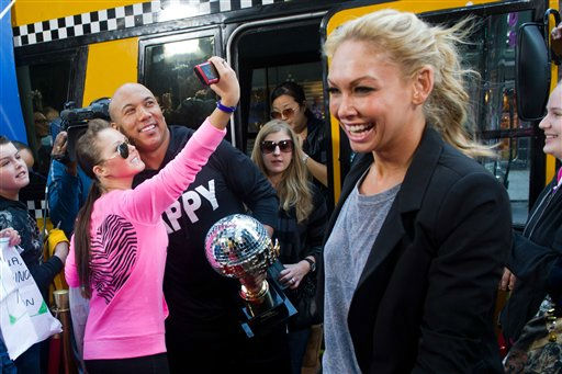 "<div class=""meta ""><span class=""caption-text "">Dancing with the Stars winners Hines Ward and Kym Johnson on Good Morning America in New York, Wednesday, May 25, 2011. (AP Photo/Charles Sykes)</span></div>"
