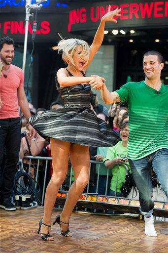"<div class=""meta ""><span class=""caption-text "">Dancing with the Stars finalists Chelsea Kane and Mark Ballas appear on Good Morning America in New York, Wednesday, May 25, 2011. (AP Photo/Charles Sykes)</span></div>"
