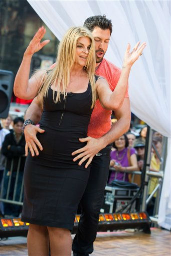 Dancing with the Stars finalists Kirstie Alley and Maksim Chmerkovskiy dance on Good Morning America in New York, Wednesday, May 25, 2011. (AP Photo/Charles Sykes)