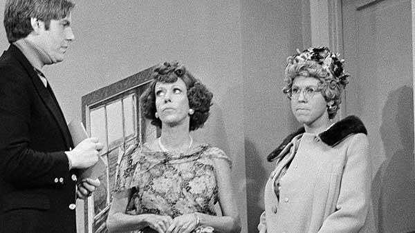 Vicki Lawrence (right) with Carol Burnett on the final taping of the variety show in 1978.