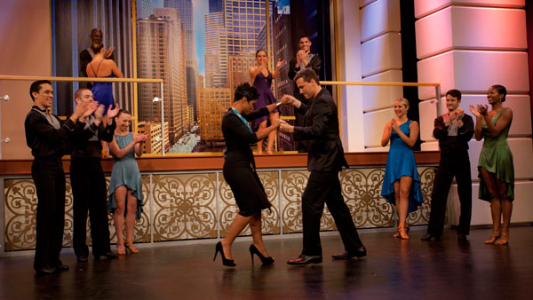 Ryan and Val dancing with Giordano Jazz Dance Chicago. September 12, 2011.