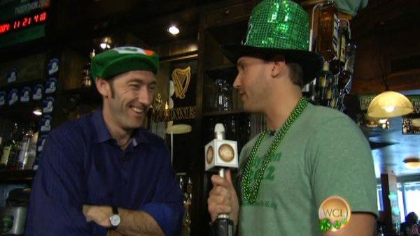 Ryan celebrates St. Patty's in the 2 Min. Warning