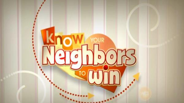 Know Your Neighbors Game 08-02-12