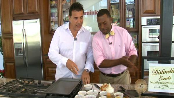 Mark DeCarlo is cooking at the Taste of Chicago 07-11-12