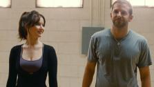 This film image released by The Weinstein Company shows Jennifer Lawrence, left, and Bradley Cooper in Silver Linings Playbook. - Provided courtesy of AP Photo/The Weinstein Company, JoJo Whilden