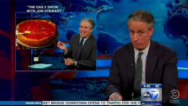 Jon Stewart calls pizza truce, makes fun of ABC7