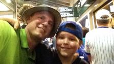 Drew Knapp, 10, and his dad, Tom.