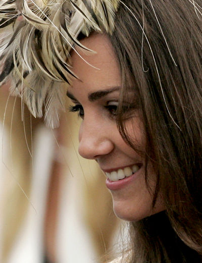 Kate Middleton, the girlfriend of Britain&#39;s Prince William, leaves St Cyriac&#39;s Church, in Lacock, Wiltshire, England, after attending the wedding of Laura Parker Bowles and Harry Lopes at a private ceremony, Saturday May 6, 2006. Laura Parker Bowles, an art gallery manager and daughter of Prince Charles&#39; second wife Camilla, the Duchess of Cornwall, swapped nuptials with Harry Lopes, a former Calvin Klein underwear model.  &#40;AP Photo&#47;Matt Dunham&#41; <span class=meta>(AP Photo&#47; MATT DUNHAM)</span>