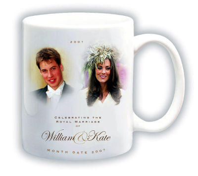 This is an image released by Woolworths on Friday Nov. 17, 2006 showing a commemorative mug with the portraits of Britain&#39;s Prince William and his girlfriend Kate Middleton. Prince William and his longtime girlfriend Kate Middleton haven&#39;t announced their engagement, but in Britain there has been speculation  tinged, perhaps, with hope _ that they soon will. To that end, Woolworth&#39;s has designed a range of Kate-and-Wills engagement memorabillia which ranges from the traditional mug and plate to the unusual prince-shaped candies, and a mobile telephone. &#40;AP Photo&#47;Woolworths, HO&#41;  <span class=meta>(AP Photo&#47; Anonymous)</span>