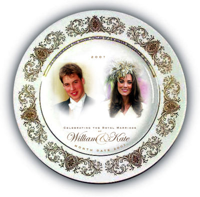 This is an image released by Woolworths on Friday Nov. 17, 2006 showing a commemorative plate with the portraits of Britain&#39;s Prince William and his girlfriend Kate Middleton. Prince William and his longtime girlfriend Kate Middleton haven&#39;t announced their engagement, but in Britain there has been speculation  tinged, perhaps, with hope  that they soon will. To that end, Woolworth&#39;s has designed a range of Kate-and-Wills engagement memorabillia which ranges from the traditional mug and plate to the unusual prince-shaped candies, and a mobile telephone. &#40;AP Photo&#47;Woolworths, HO&#41;  <span class=meta>(AP Photo&#47; Anonymous)</span>