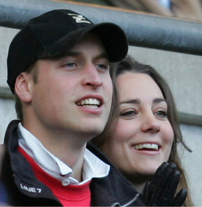 Britain&#39;s Prince William, left, and girlfriend Kate Middleton watch the England against Italy Six Nation rugby match at Twickenham stadium in London, in this Feb. 10, 2007 file photo. Paparazzi aggressively pursued Prince William and his girlfriend early Friday as they left a nightclub, following them by car through the streets of London after photographing the couple, the prince&#39;s spokesman said. The chase came just days after the start of an inquiry into his mother&#39;s death in a 1997 car crash after being pursued by photographers. &#40;AP Photo&#47;Alastair Grant, File&#41; <span class=meta>(AP Photo&#47; ALASTAIR GRANT)</span>