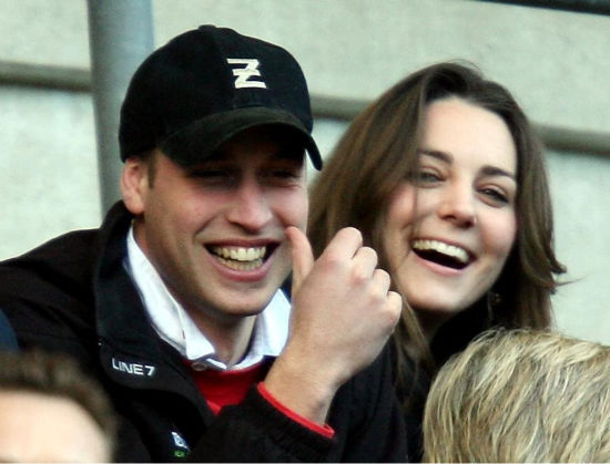 Britain&#39;s Prince William and Kate Middleton, watch the England against Italy Six Nations rugby match at Twickenham stadium in London, in this Saturday Feb. 10, 2007 file photo. According to an announcement by Clarence House in London, Tuesday Nov. 16, 2010,  the couple are to wed in 2011, Further details about the wedding day will be announced in due course.&#40;AP Photo&#47;David Davies, pa, file&#41;  <span class=meta>(AP Photo&#47; David Davies)</span>