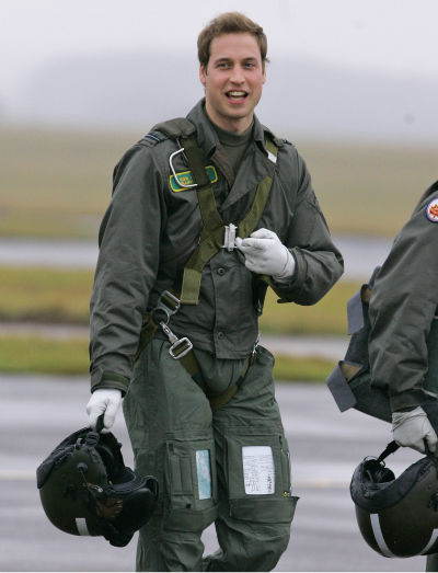 Britain&#39;s Prince William gestures as he walks across the airfield at RAF Cranwell, Lincolnshire, England, in this Thursday, Jan. 17, 2008, file photo. Britain&#39;s Prince William plans to become a full-time search-and-rescue pilot in the Royal Air Force, royal officials said Monday, Sept. 15, 2008.The prince&#39;s Clarence House office said William would begin an 18-month training program in January. William, 26, learned to fly earlier this year during a stint with the air force. He has also served for several months with the Royal Navy and is an officer in the British Army. Clarence House said the second in line to the throne would transfer from the army to the air force, where he will hold the rank of flying officer. If he completes his course, he will fly Sea King helicopters with one of the RAF&#39;s six search-and-rescue teams.  &#40;AP Photo&#47;Kirsty Wigglesworth&#47;file&#41; <span class=meta>(AP Photo&#47; Kirsty Wigglesworth)</span>