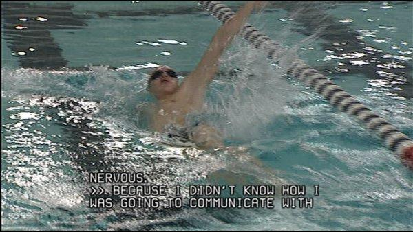 Deaf swimmer's teammates learn sign language