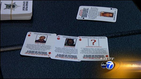 Cards may help crack murder cases, officials hope