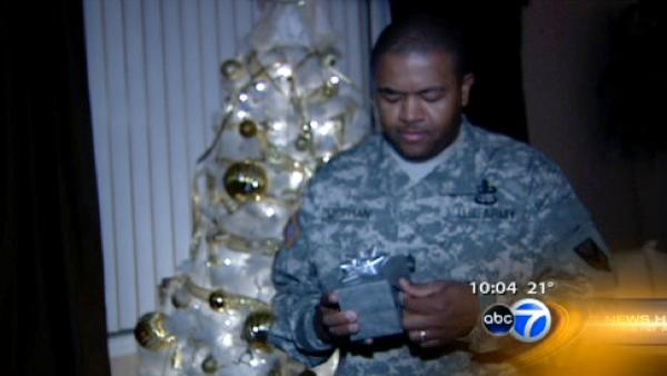 Soldier comes home for Christmas