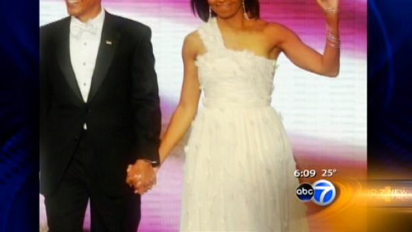 Michelle Obama's dress a hit