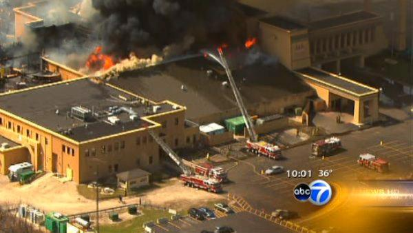 Heavy fire damage at Empress Casino in Joliet