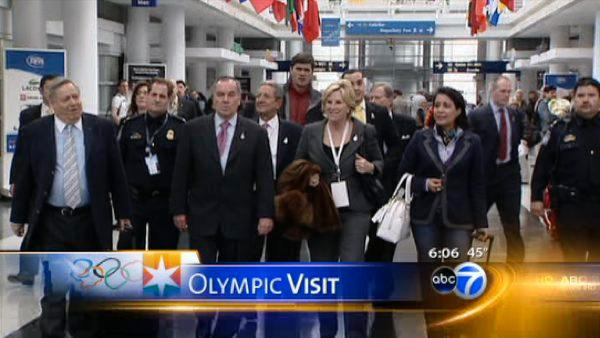 IOC members arrive in Chicago