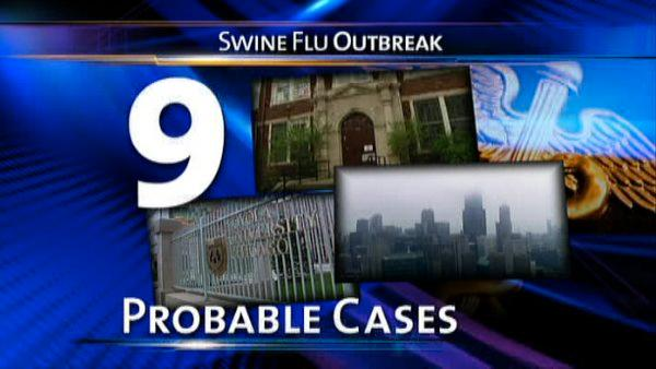 9 'probable' swine flu cases in Chicago area