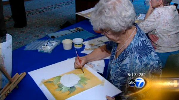 Seniors turn to art after retirement
