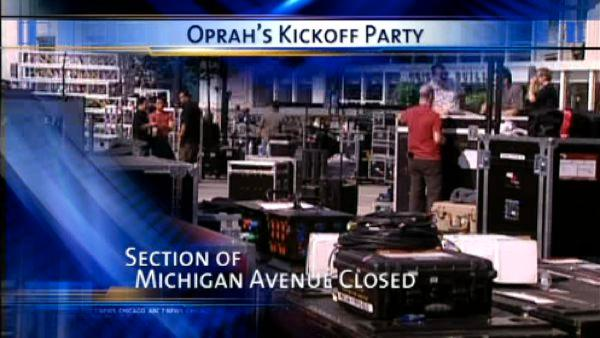 Michigan Ave. closes for the Oprah show