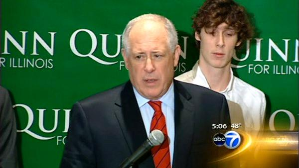 Quinn announces candidacy for full term