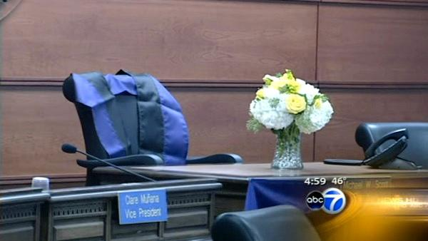 School board honors late president