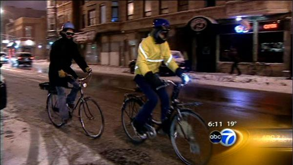 Winter biking: Cyclists brave elements, enjoy ride