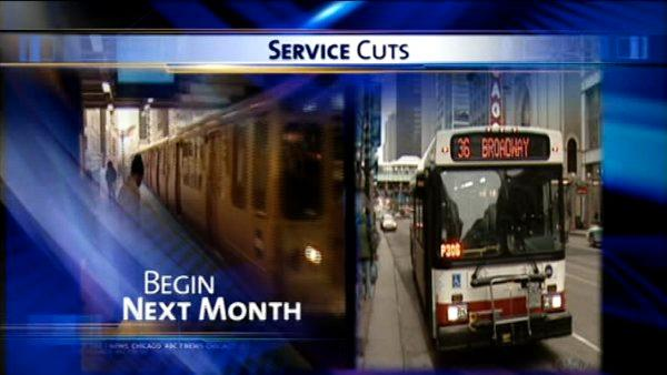 CTA service cuts two weeks away