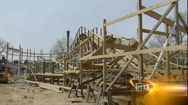 Six Flags rebuilds Kiddieland's Little Dipper