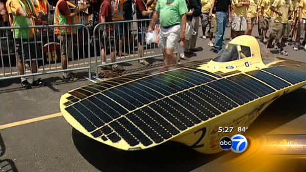 Solar cars cross finish line in Naperville