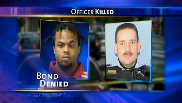 Bond denied for suspect in officer's death
