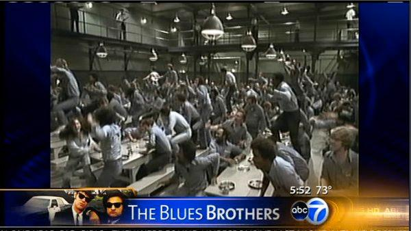 'Blues Brothers' showing at Joliet prison