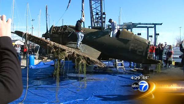WW2 plane pulled from Lake Michigan