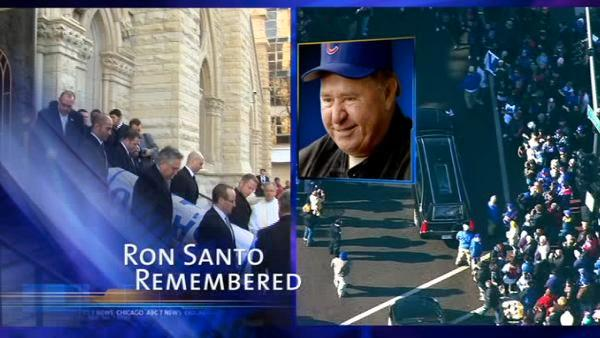 Fans remember Cubs legend Ron Santo