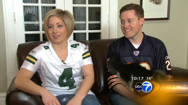 Bears-Packers rivalry divides Naperville couple