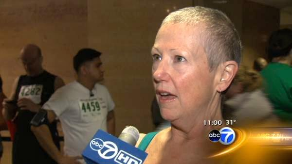 Lung disease survivor hustles up the Hancock