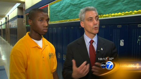 Student successfully pitches idea to Rahm Emanuel