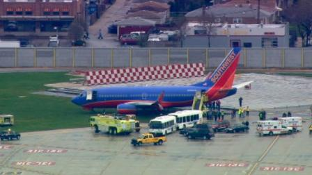 No injuries were reported when a Southwest Airlines plane ran off a runway at Midway Airport Tuesday afternoon. The Chicago Fire Department was called out to help move the jet, which is stuck in mud.