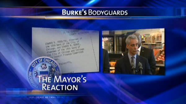 Emanuel says he'll resolve Burke security in 'due time'