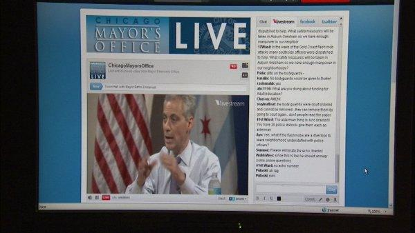 Mayor Emanuel hosts town hall meeting online