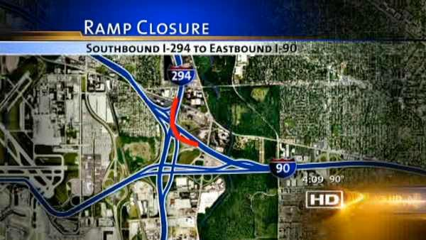 Construction to begin on I-294/90 ramp